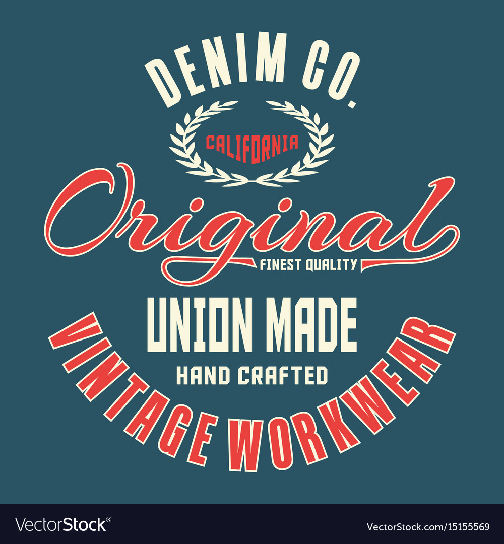 Denim california original vector image