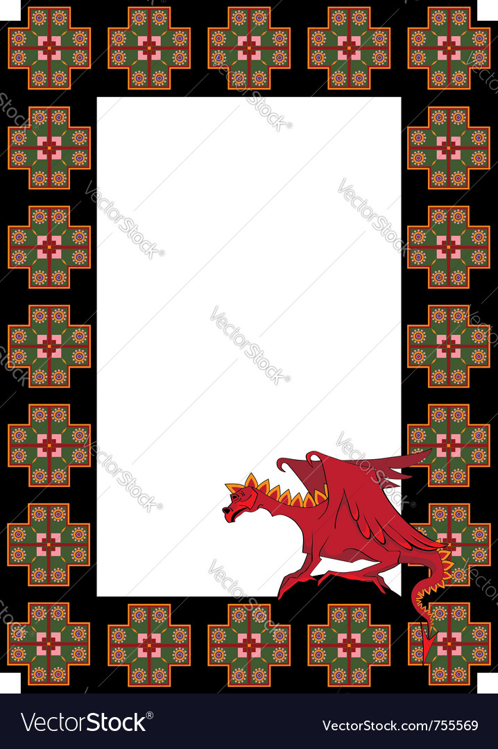 Frame with dragon