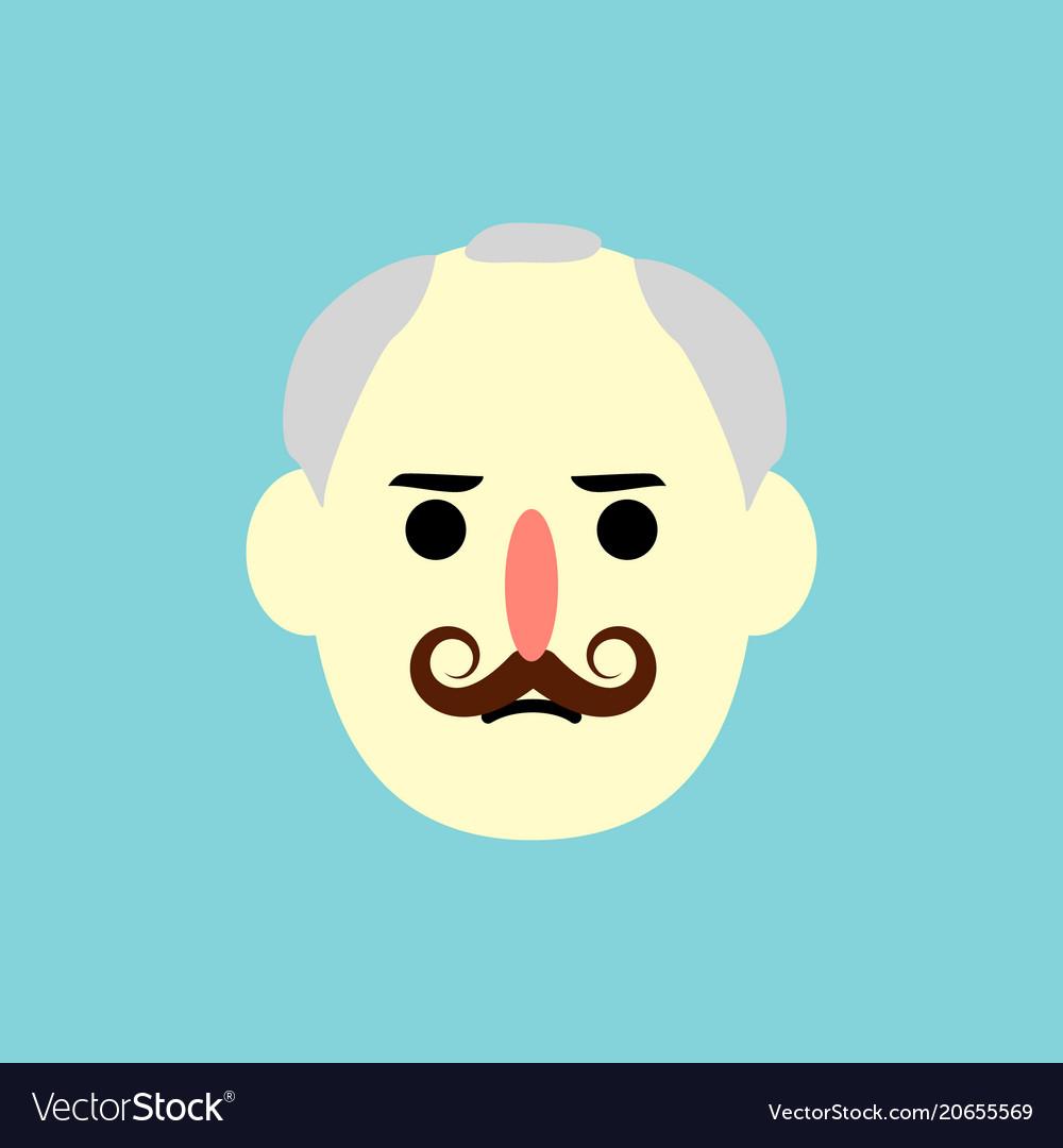 Man face - flat design
