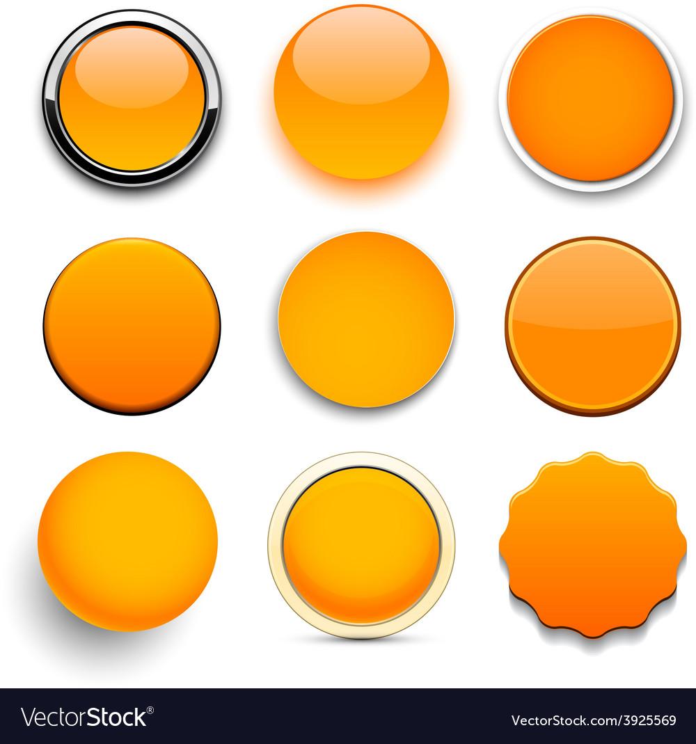 Round orange icons