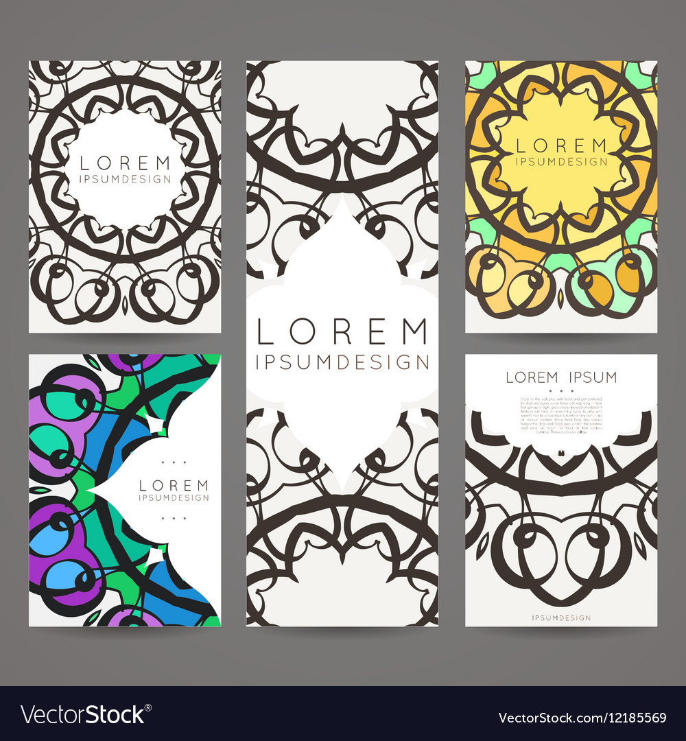 Set of design templates Business card with