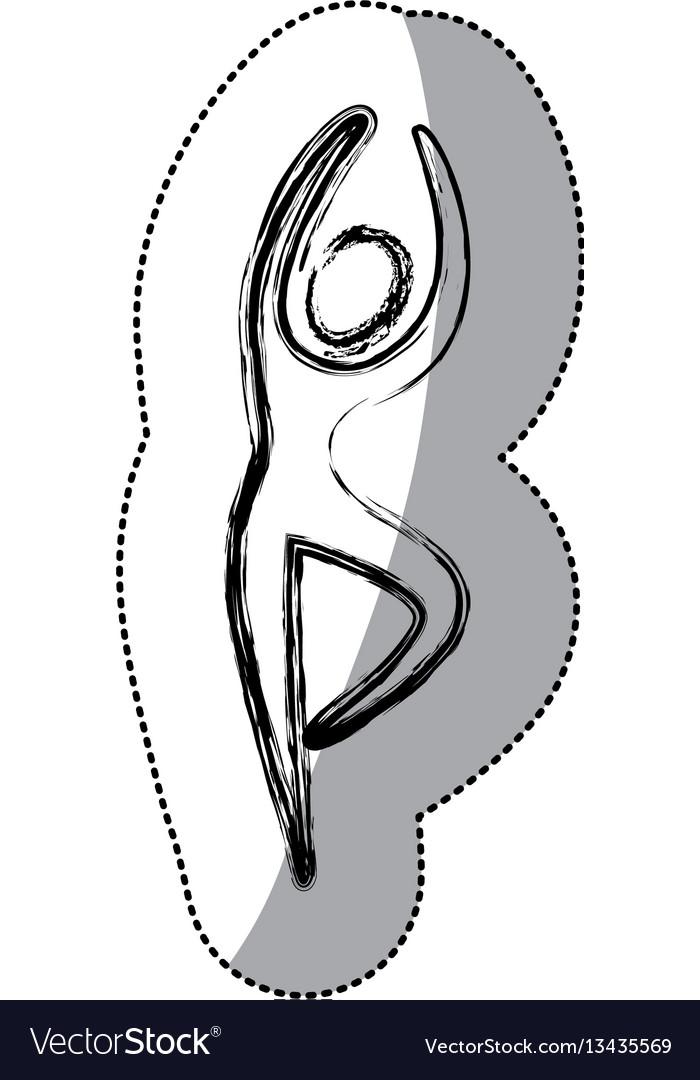 Sticker person dancing icon