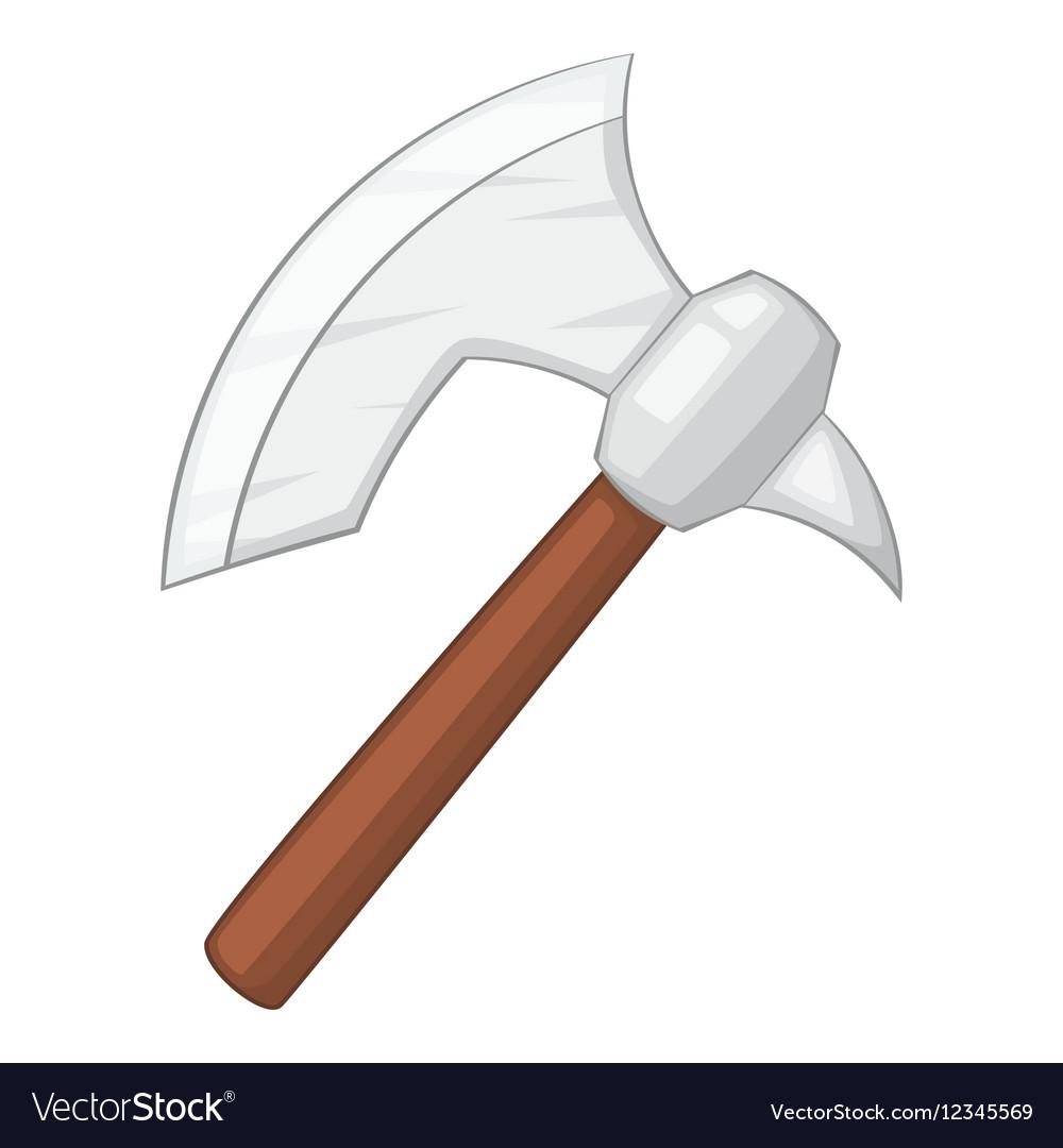 Viking axe icon cartoon style