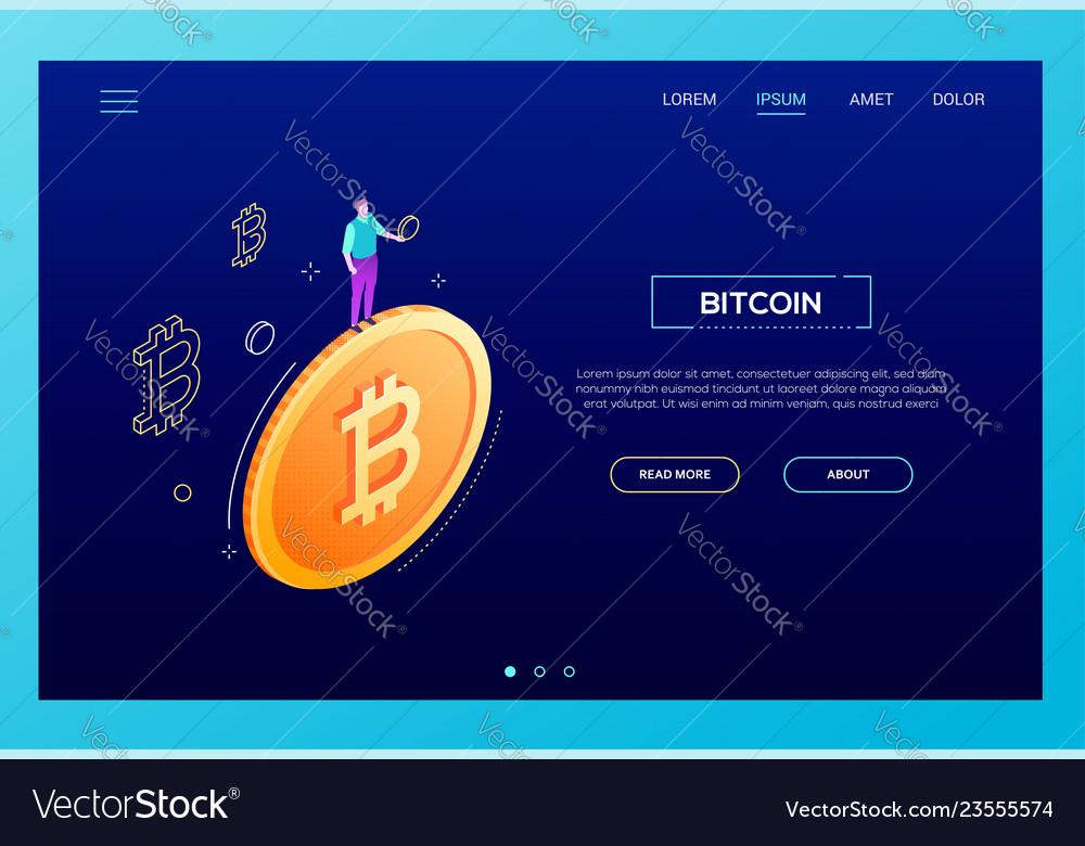 Bitcoin concept - modern isometric web