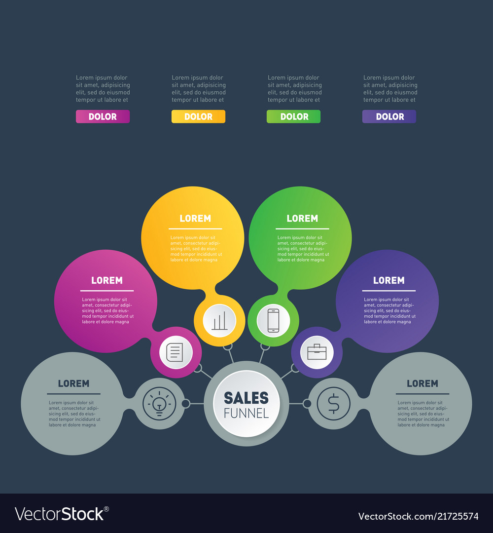 Business infographics concept with 4 options info