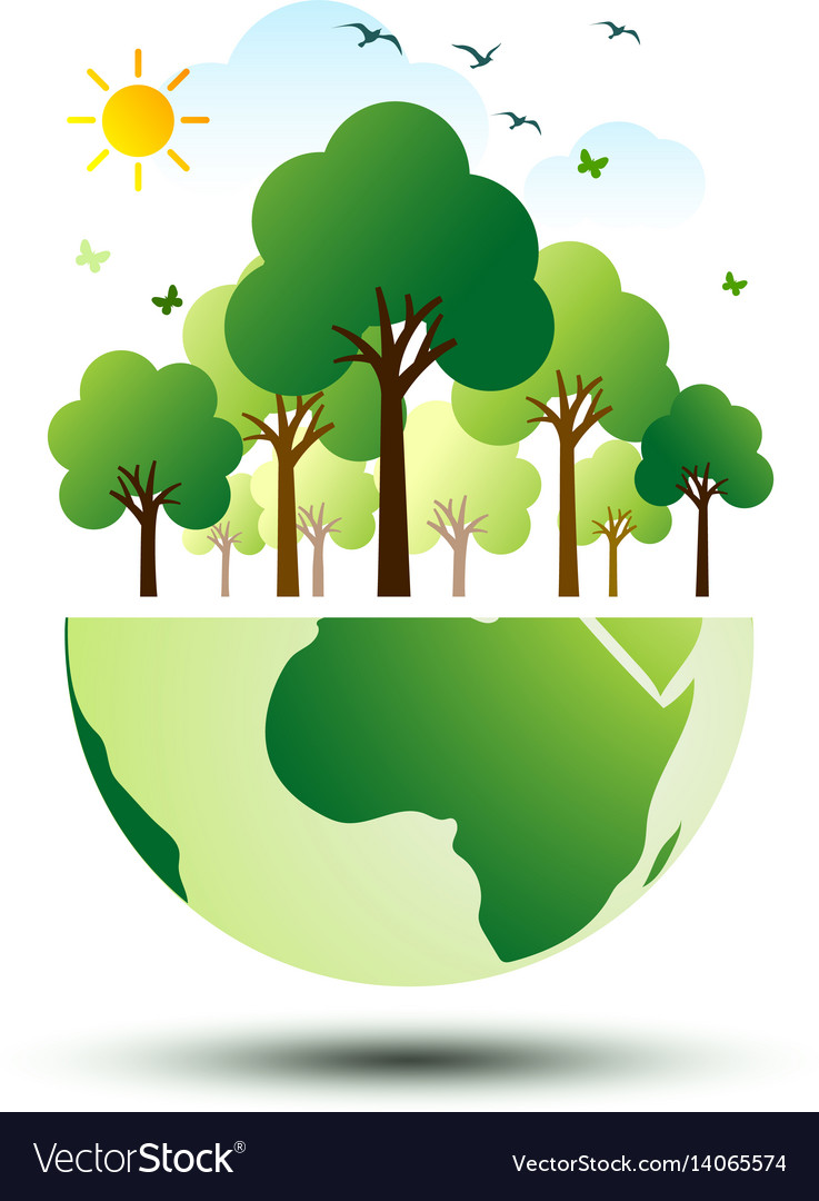 Green eco earth 2 vector image