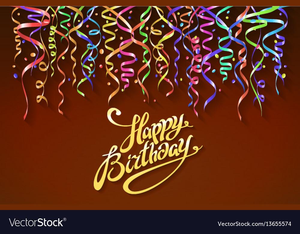 Happy birthday sign design background birthday