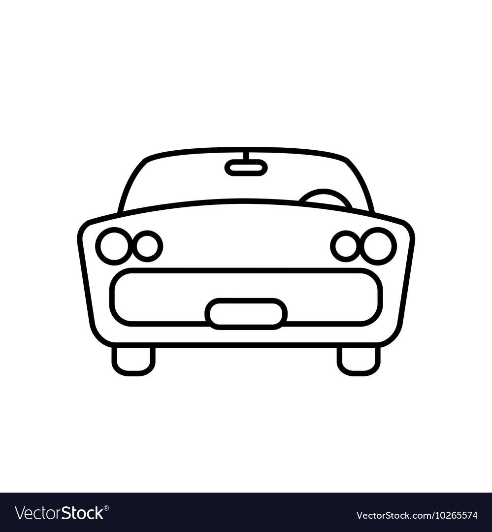 Minimal retro car icon