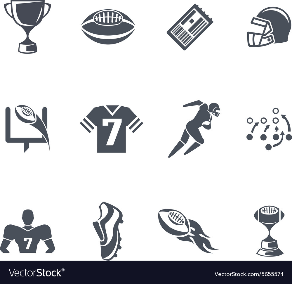 Rugby or american football icons