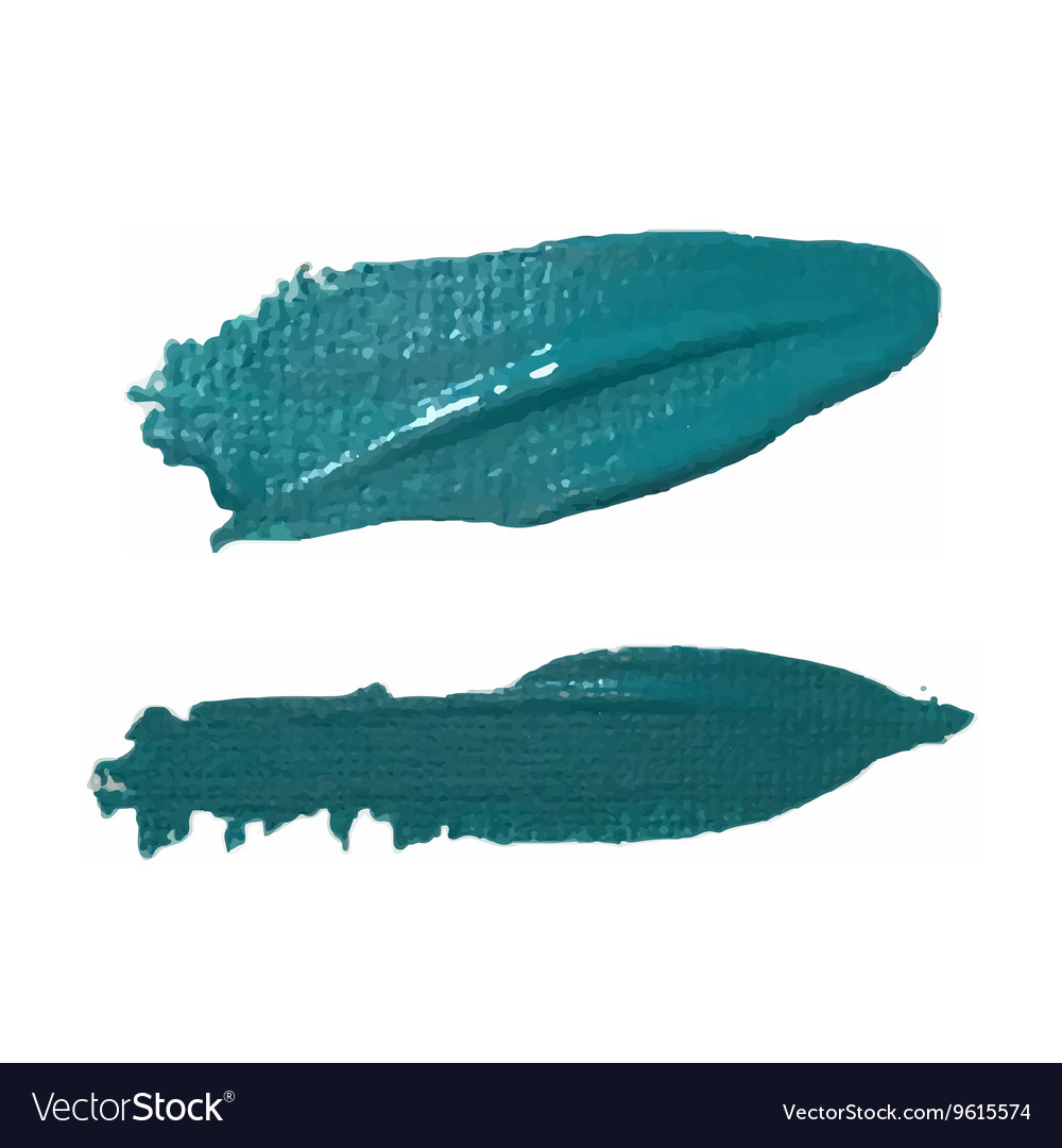 Sea Green Paint Smear vector image
