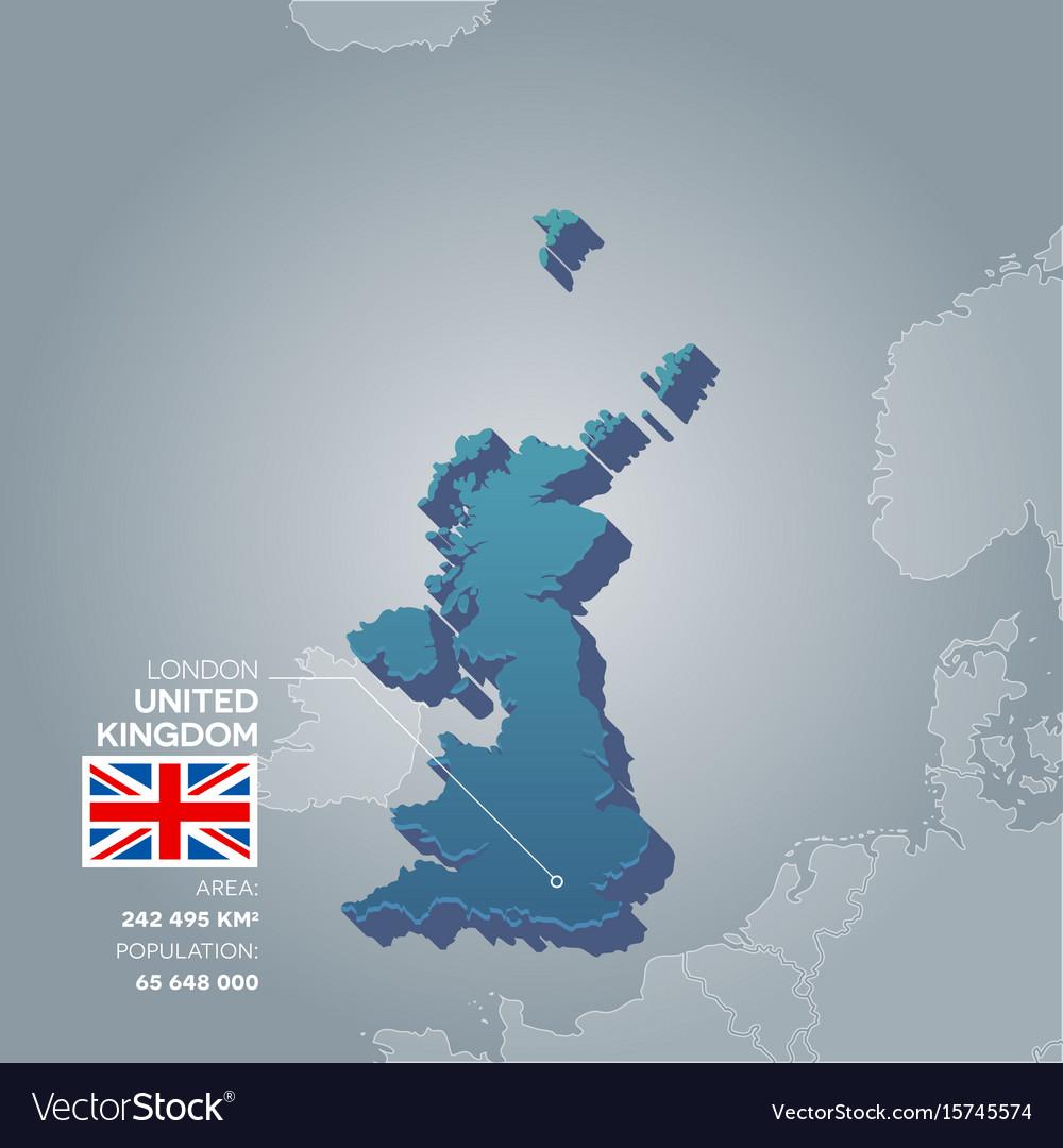 United Kingdom Information Map Vector Image