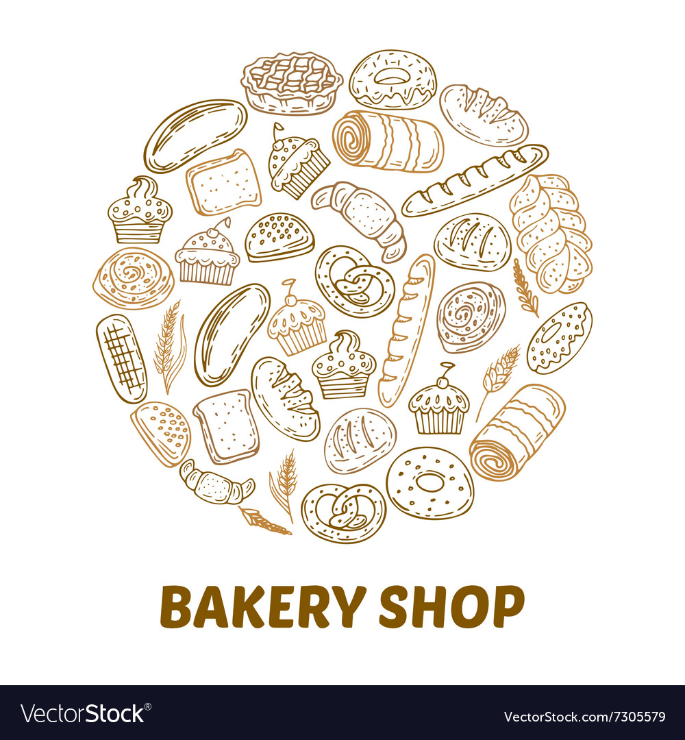 Bakery shop Hand drawn bakery background