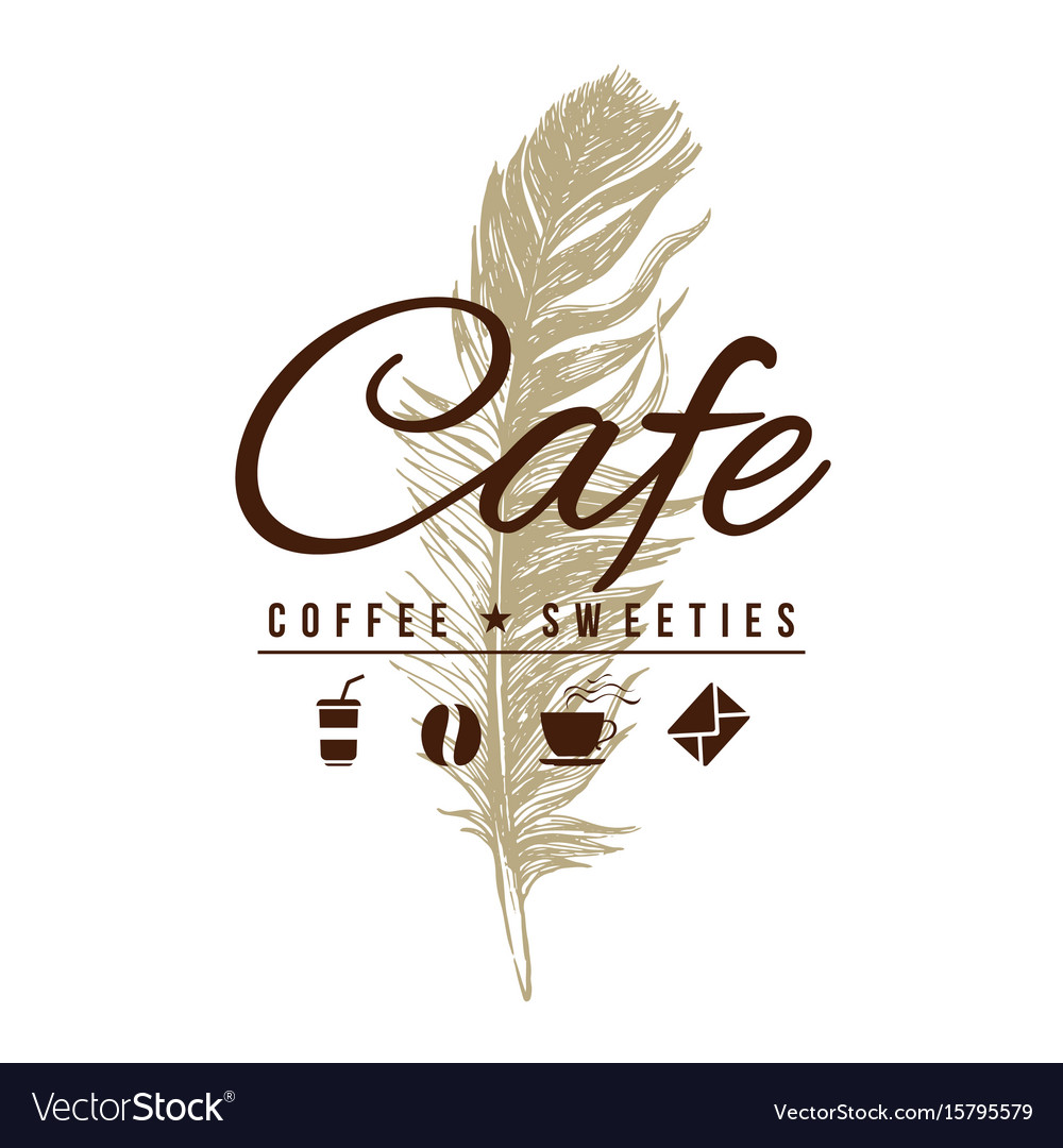 Cafe logo in vintage style