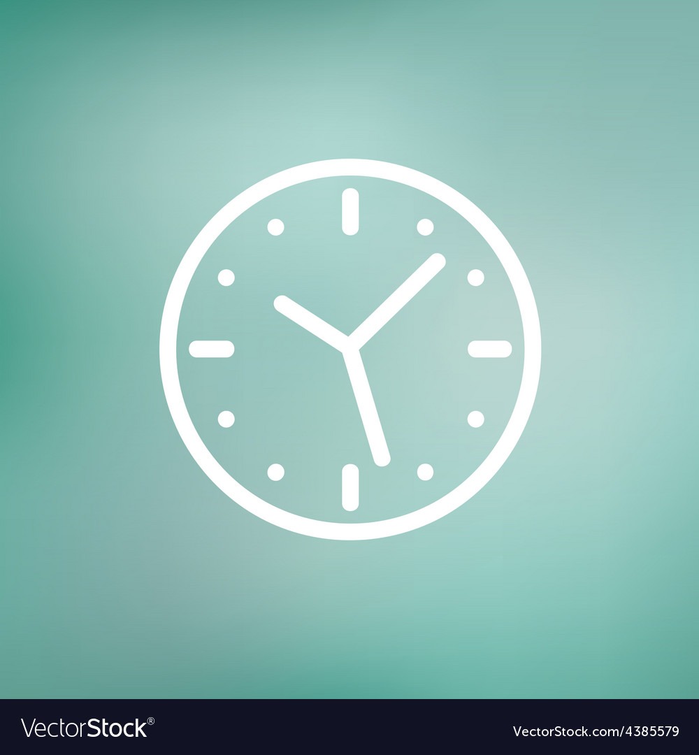 Clock thin line icon