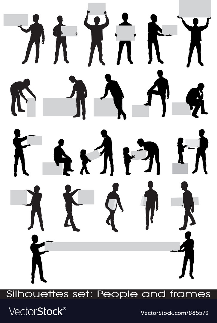 People and frames Royalty Free Vector Image - VectorStock