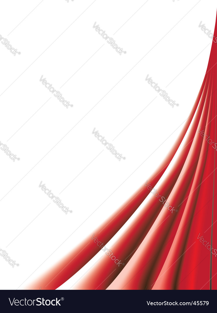 Red curtains on white background