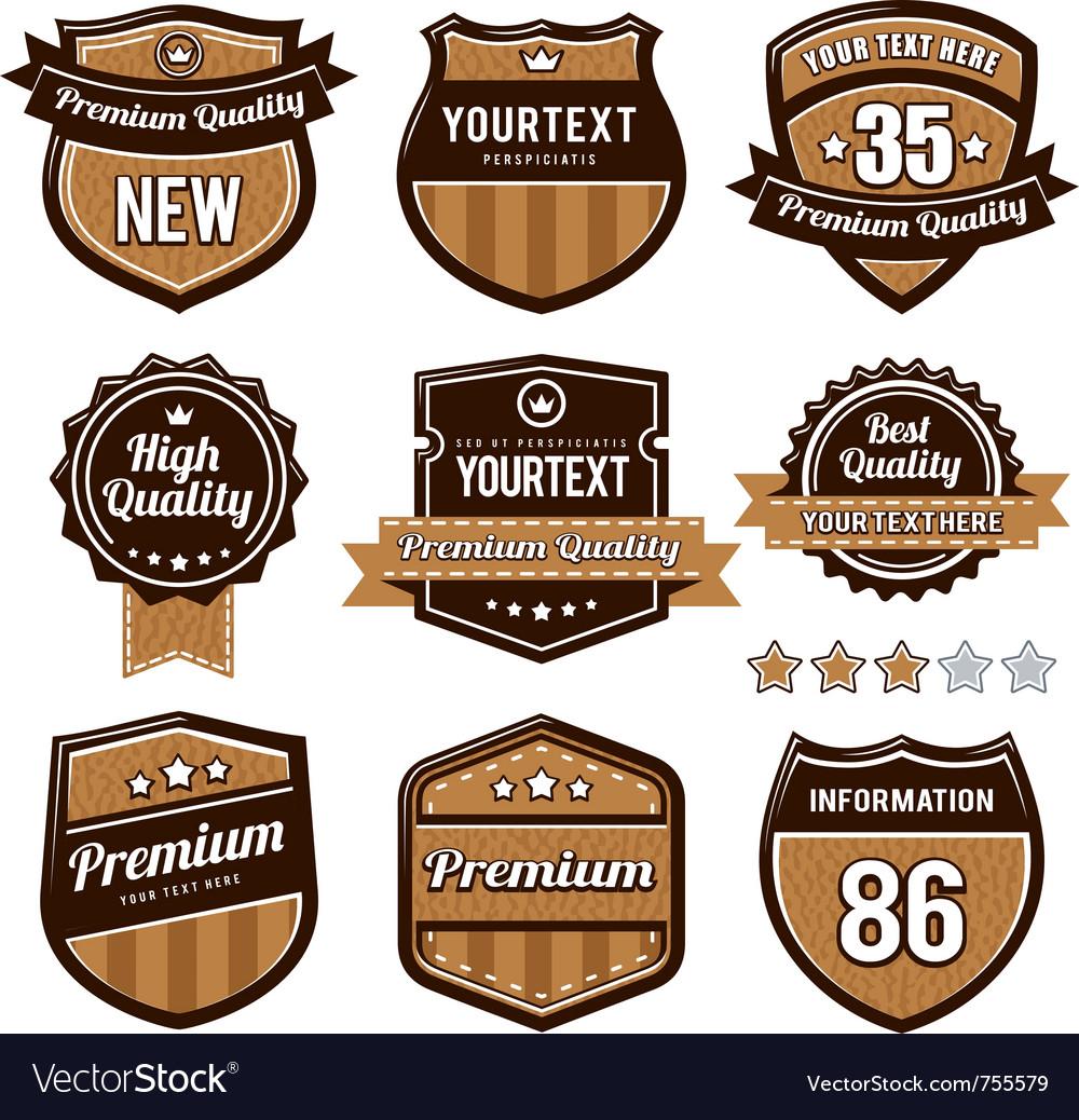 Set retro badges