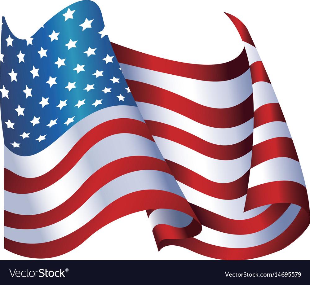 United states of america flag waving glossy symbol