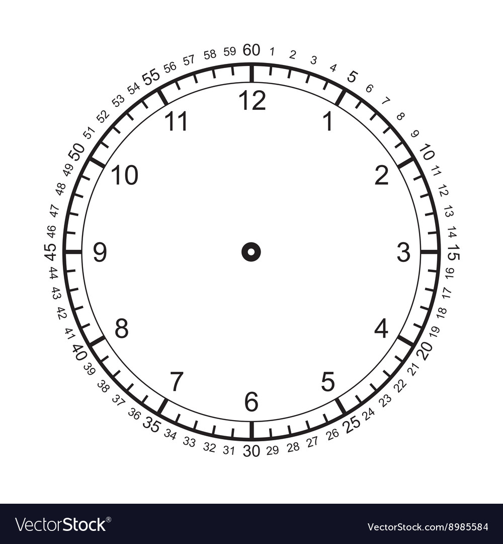clock diagram blank clock royalty free vector image vectorstock clock diagram for teaching time blank clock royalty free vector image