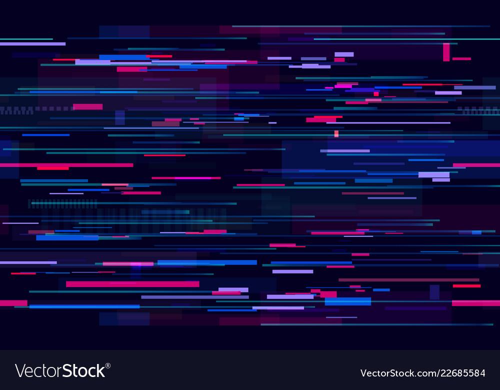 Futuristic neon glitch background glitched