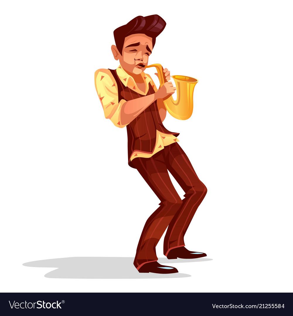 Jazz man with saxophone