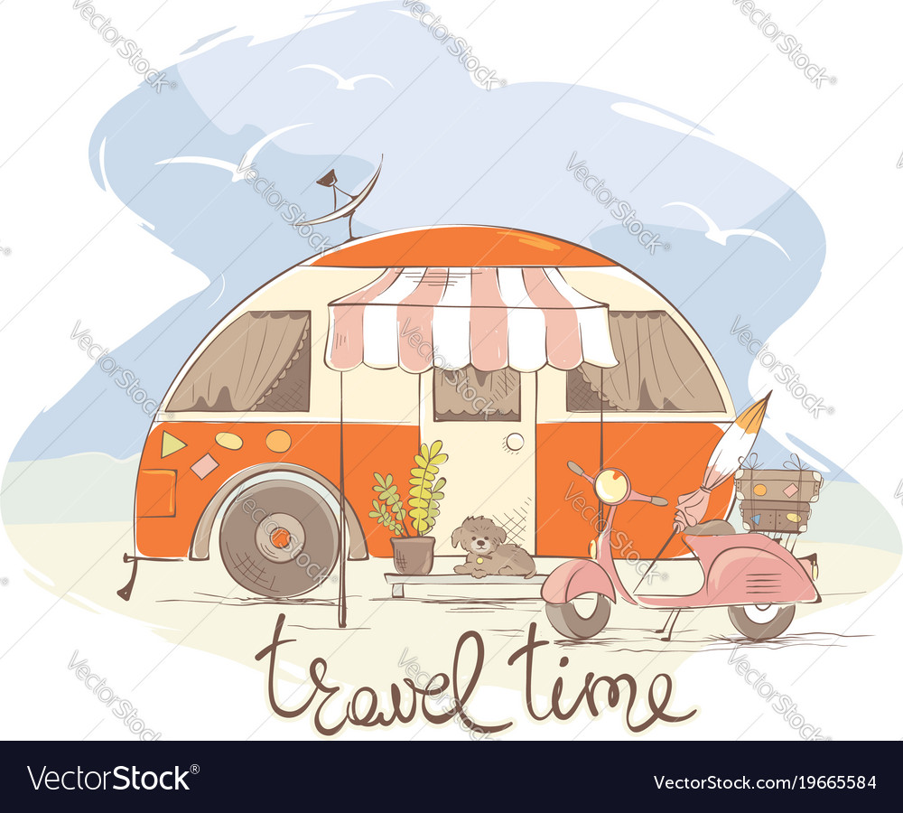 Summer travel in a house on wheels