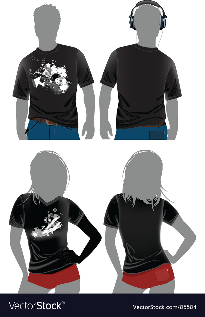 blank t shirt design template. T-shirt design templates