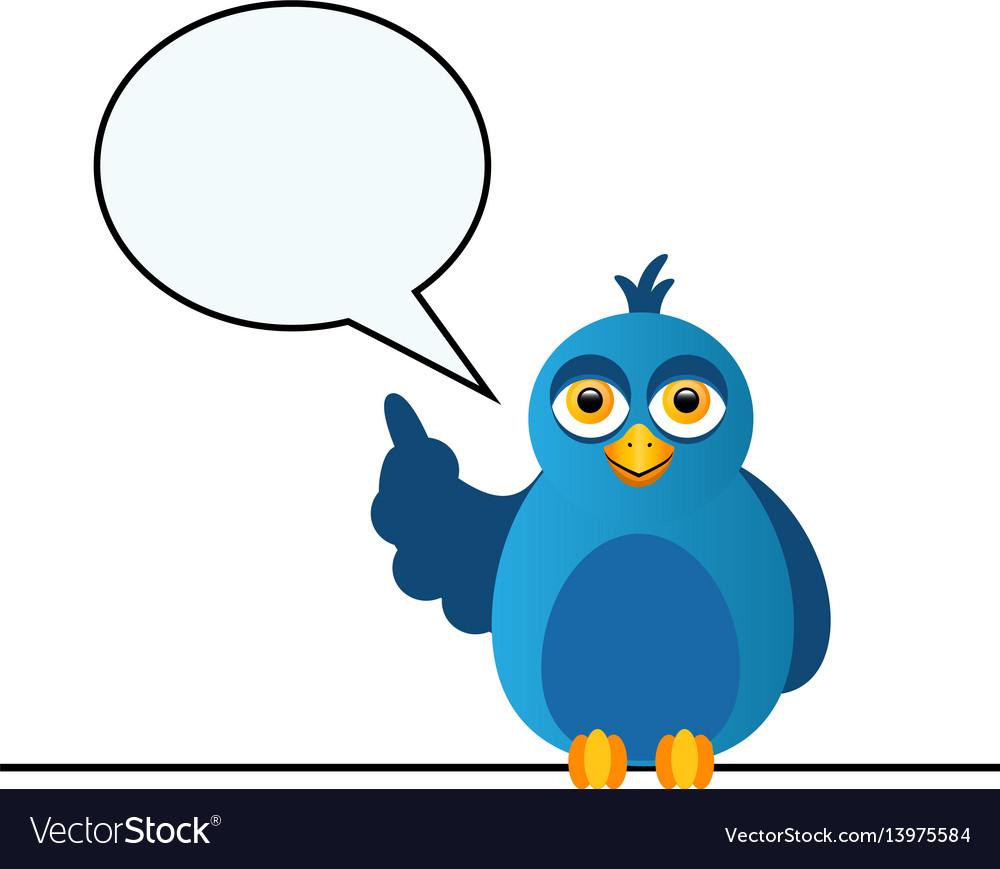 The blue bird says