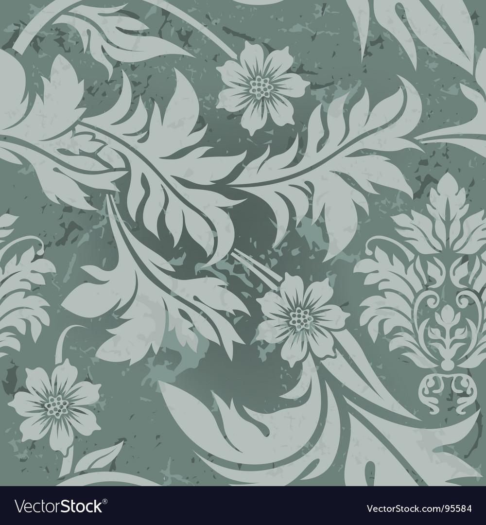 vintage floral wallpaper. Vintage Floral Grunge Seamless