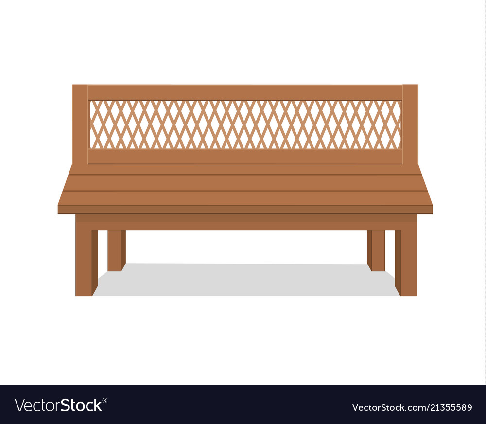 Benches isolated on white background