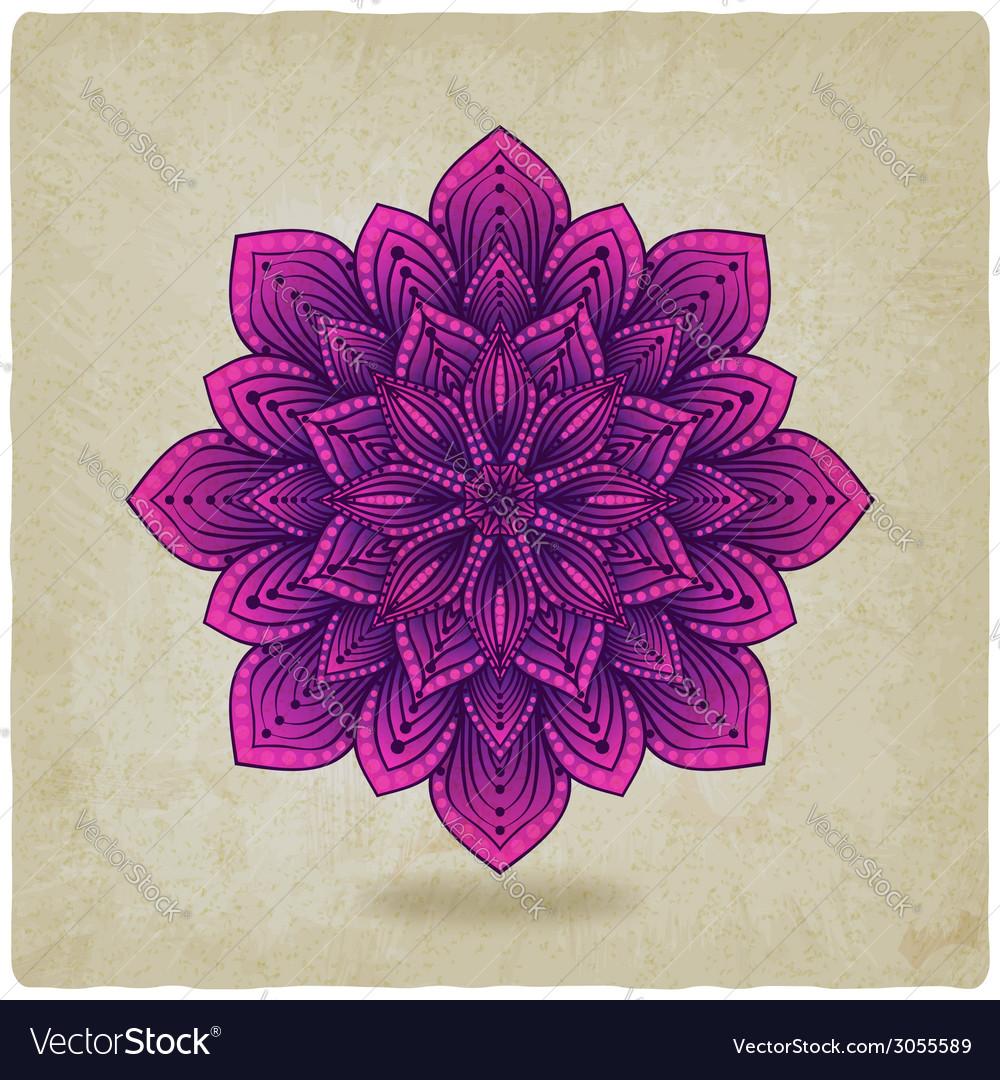 Circular pattern mandala old background vector image