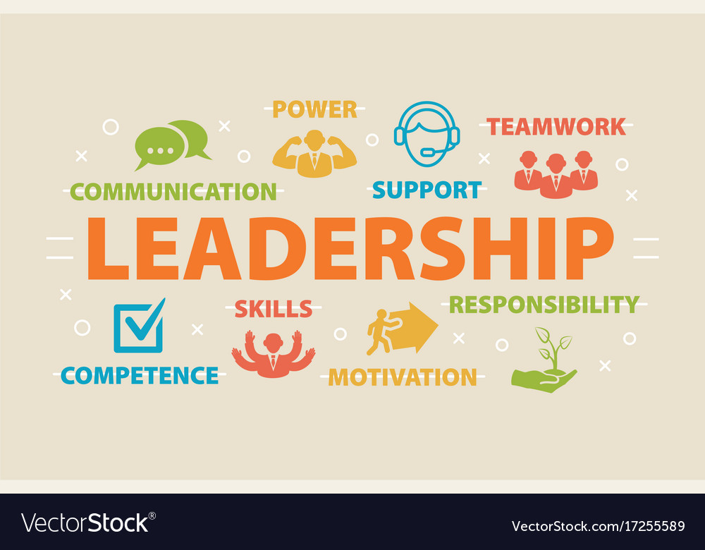 Leadership Concept With Icons Royalty Free Vector Image