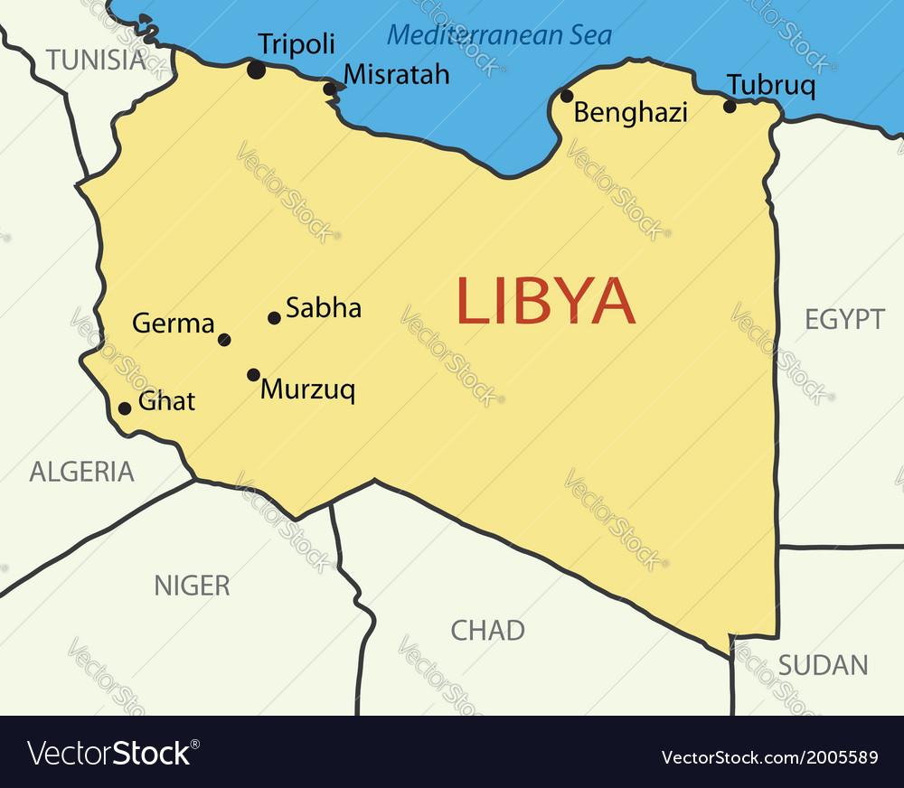 Libya map Royalty Free Vector Image VectorStock