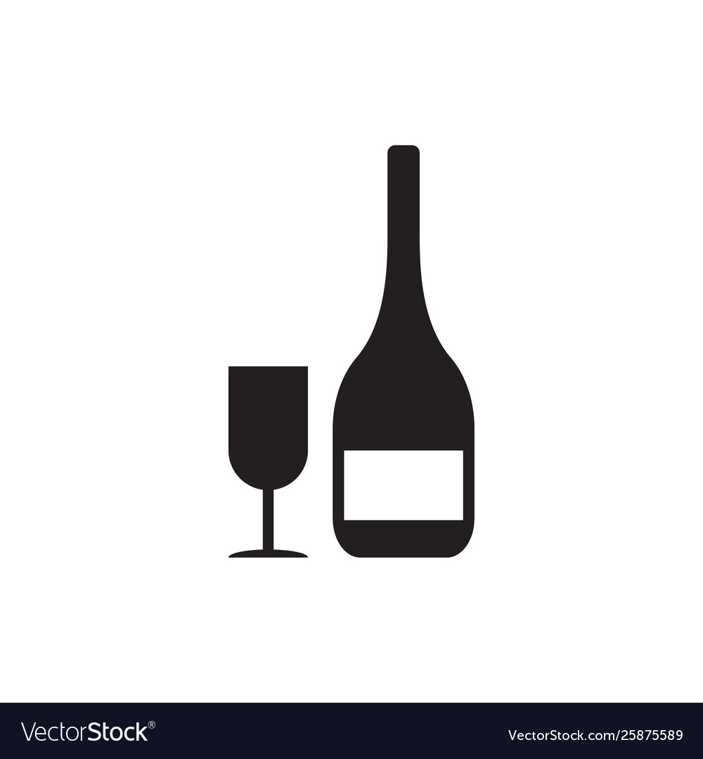 Wine drink icon design template isolated