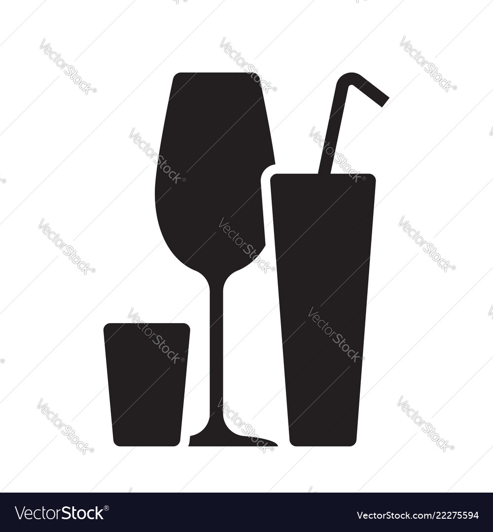 Alcohol cocktail bar drink black silhouette