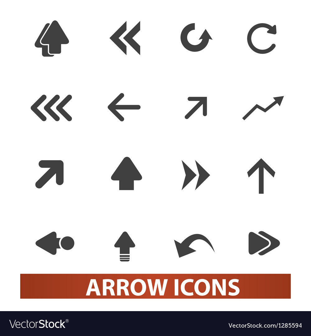 Arrow icons signs set for web and mobile design
