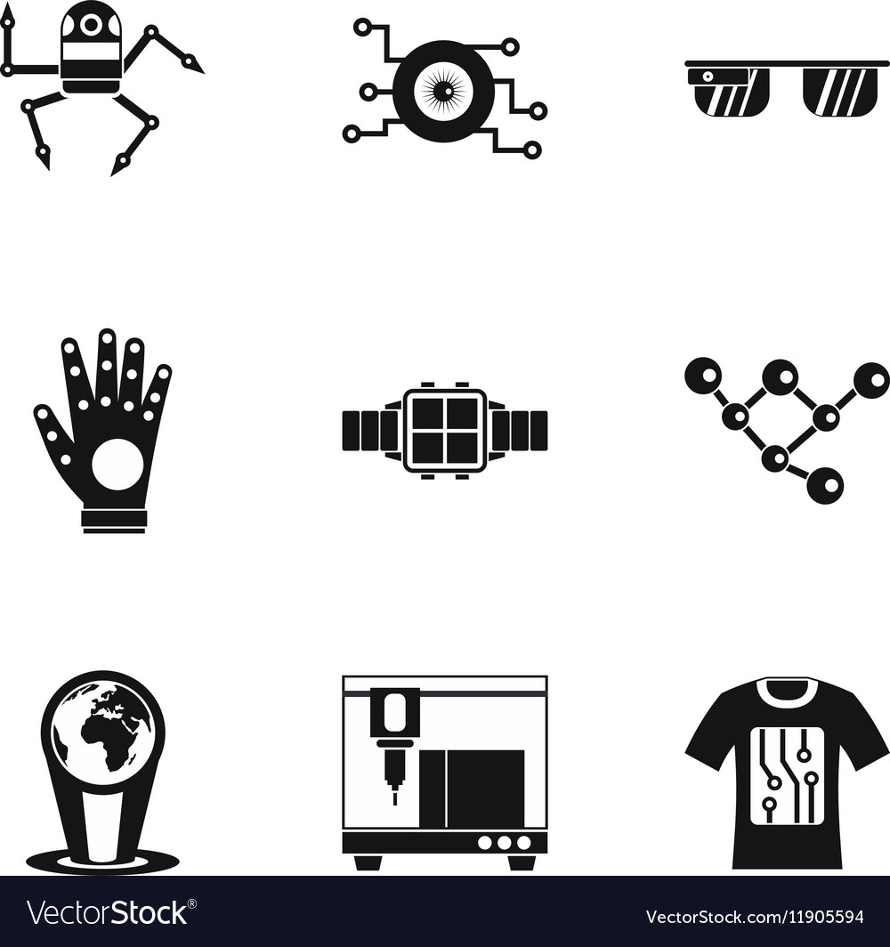 Electronic Devices Of Future Icons Set Royalty Free Vector