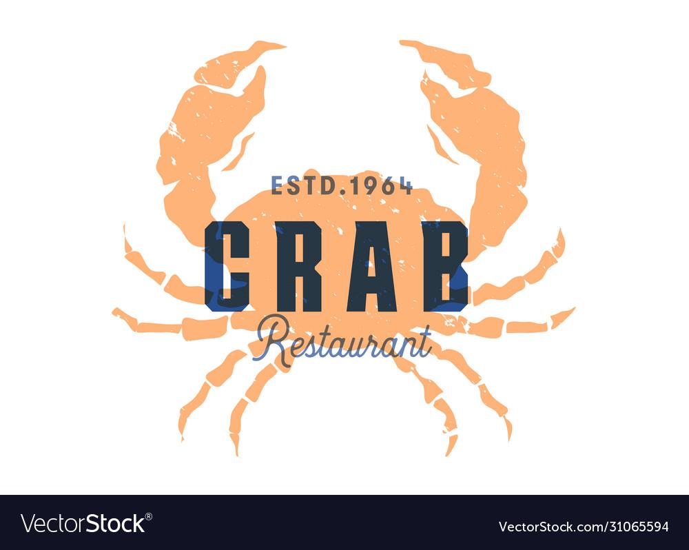 Fish silhouettede sign crab emblem