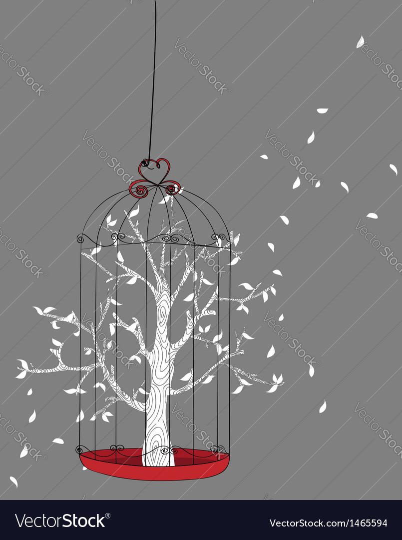 Freedom concept tree vector image