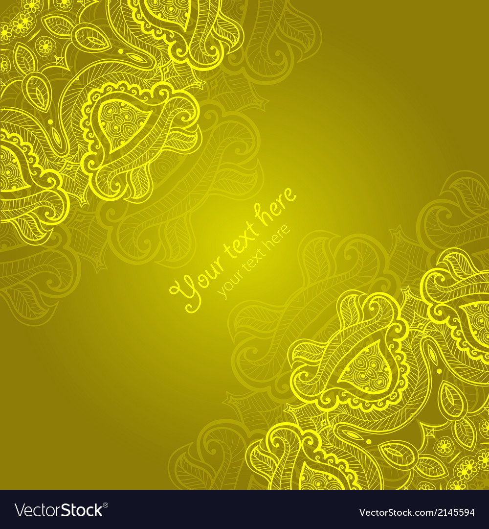 Greeting card with lace ornament