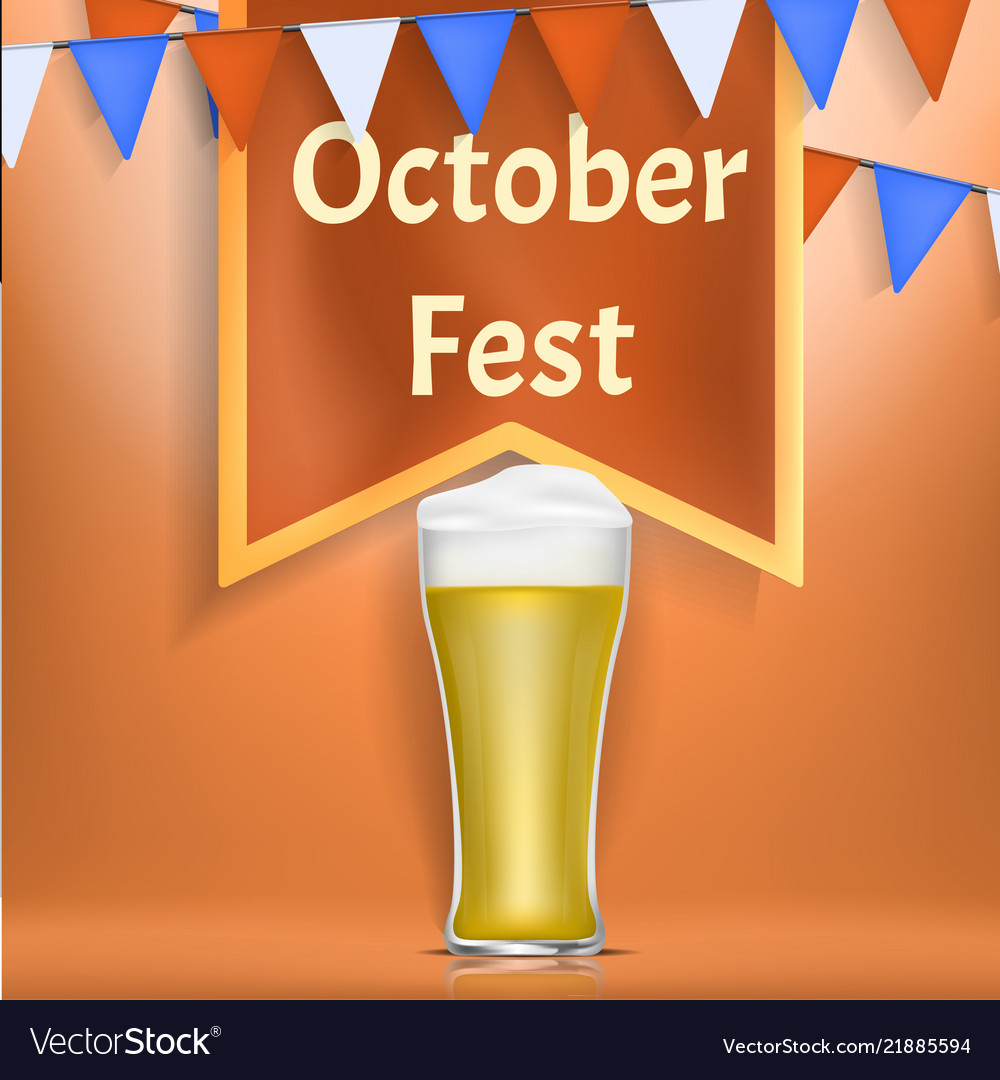 Octoberfest concept banner realistic style
