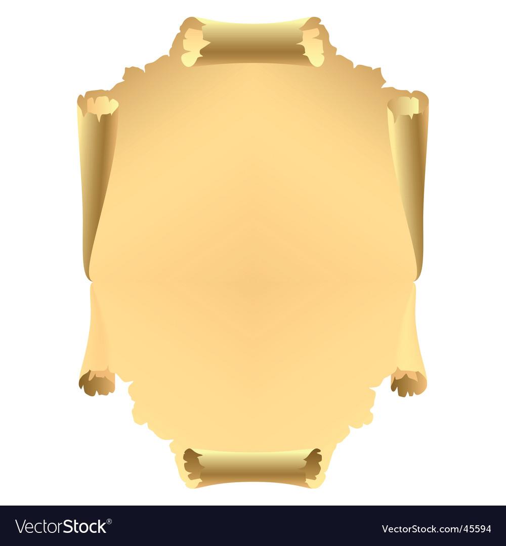 Parchment paper vector image