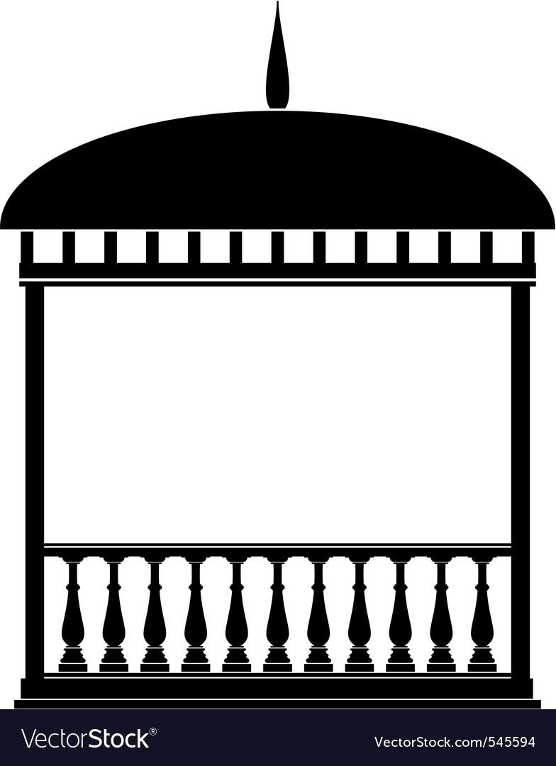 Rotunda arbour black