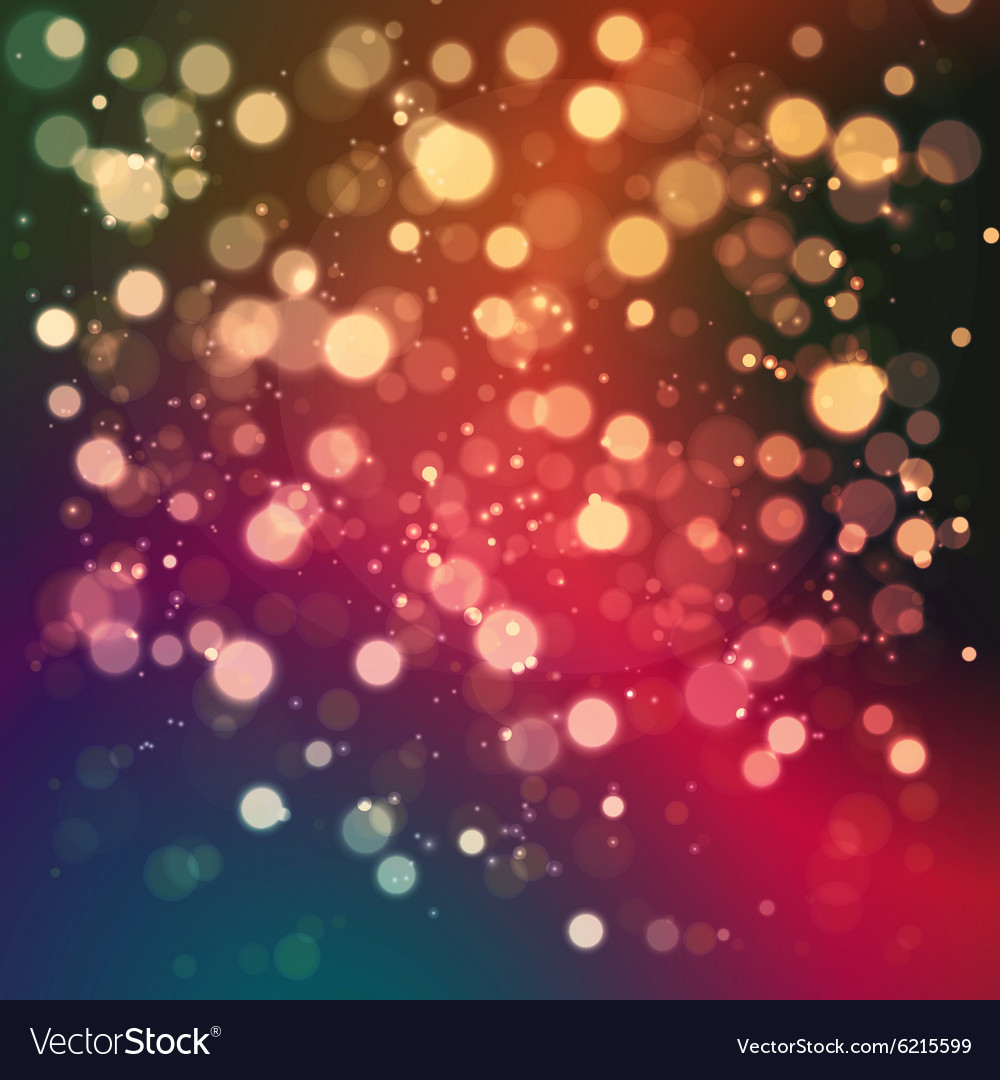 Christmas abstract background with bokeh light