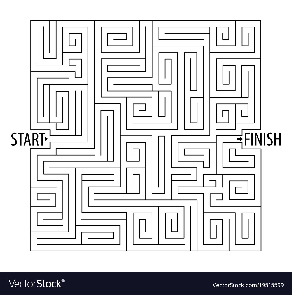 Find the right way logical games maze game