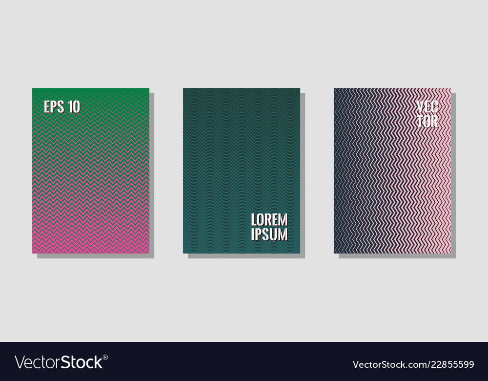 Halftone gradient texture cover layouts