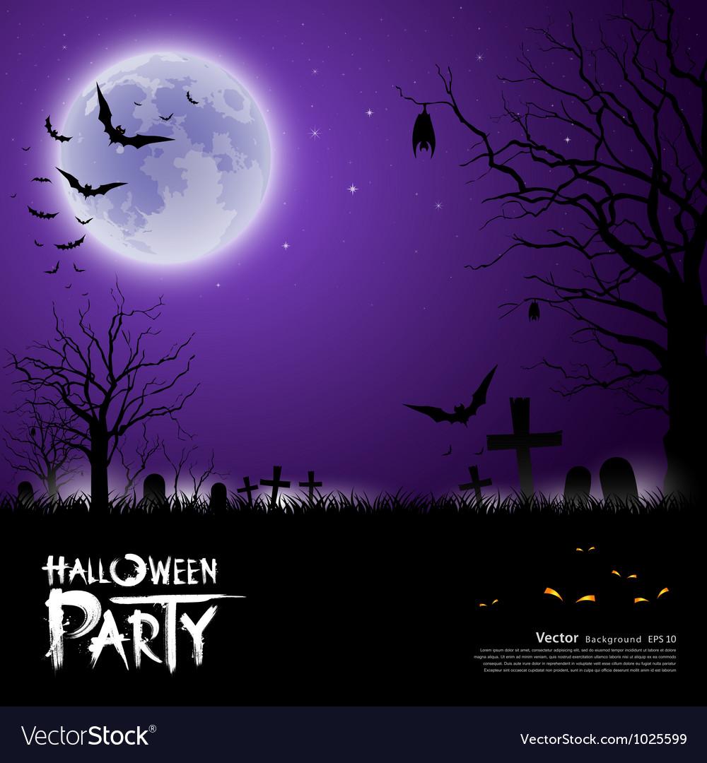 Happy halloween scary on purple background