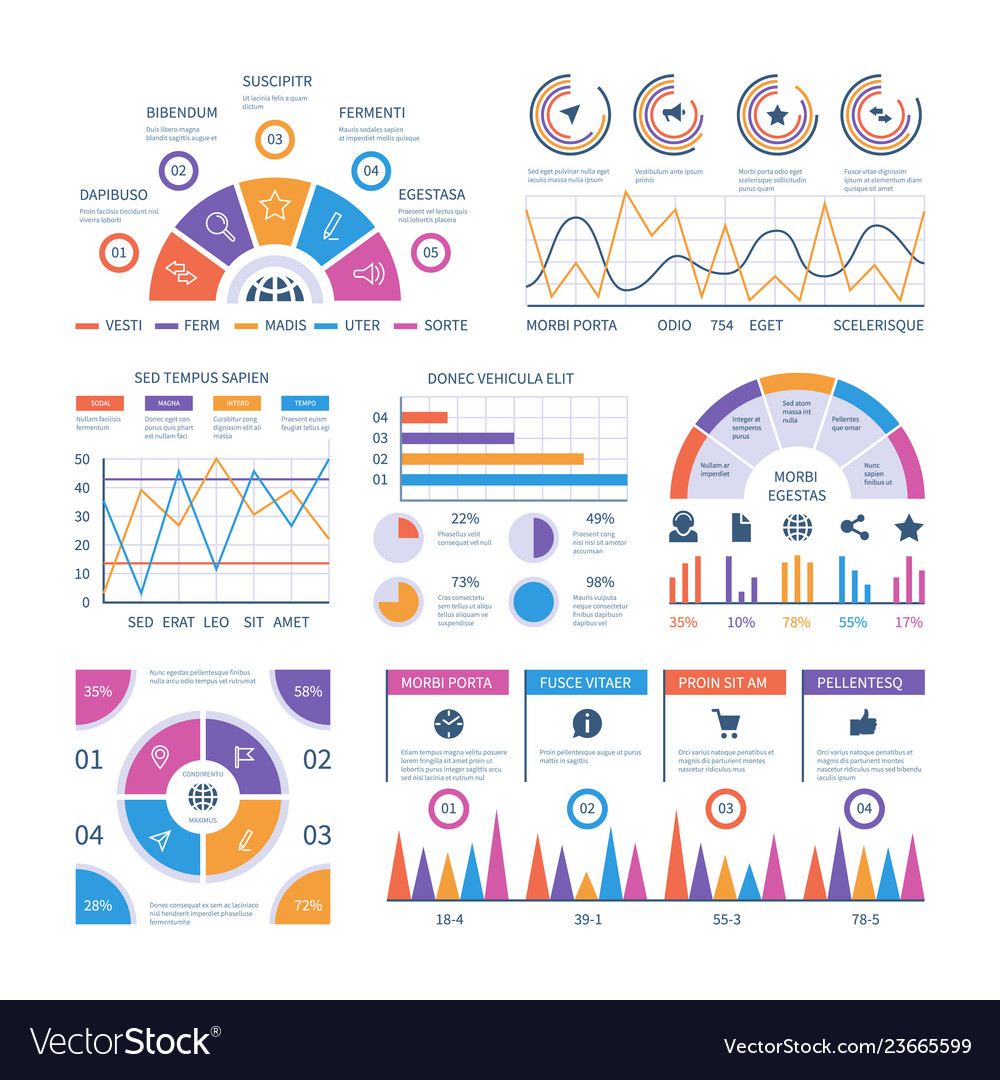 Infographic template dashboard bar finance