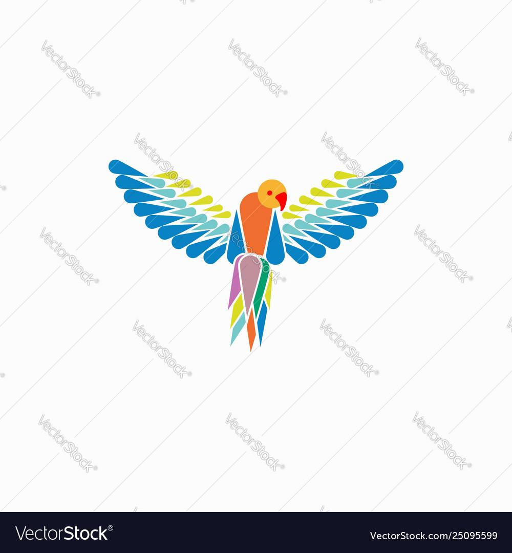 Parrots ara macao template