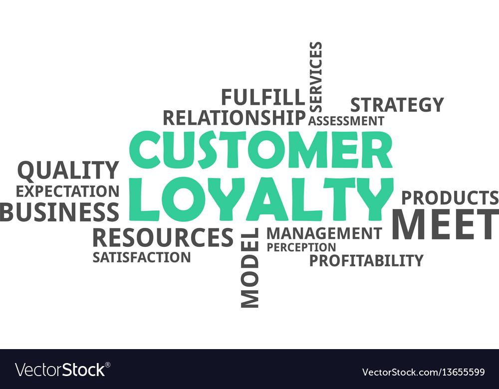 Word cloud - customer loyalty vector image